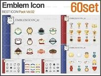 PNG 엠블럼 아이콘 패키지_Vol.02(60set)_조이피티