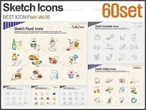 PNG 스케치 아이콘 패키지_Vol.05(60set)_조이피티